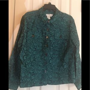 COLDWATER CREEK JACKET IN BEAUTIFUL COLORS SIZE PL